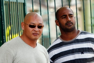 Andrew Chan (left) and Myuran Sukumaran together in 2011.