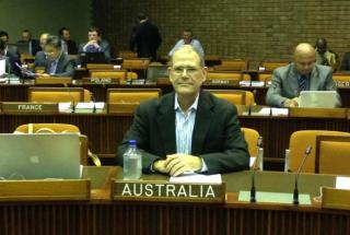 International law expert, Prof. Don Anton, pictured at the ISA's 20th Session.