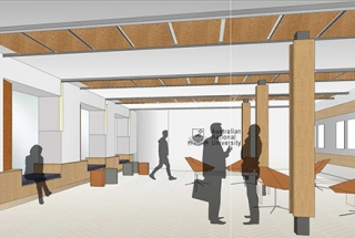 Artist's impression of the feature wall in our new foyer