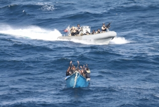 Anti-piracy boarding, 2011. (Pic by US Navy [Public domain], Wikimedia Commons)