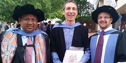 Professor Asmi Wood, Associate Professor Matthew Zagor and Professor Mark Nolan