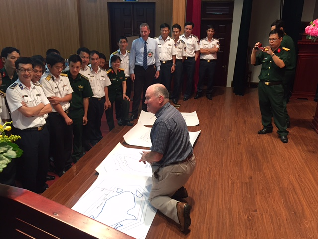 David Letts in Vietnam at Red Cross workshop