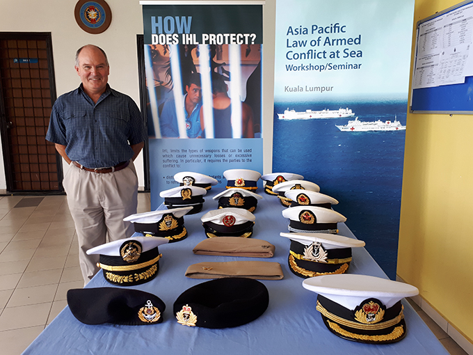 David Letts and naval military hats