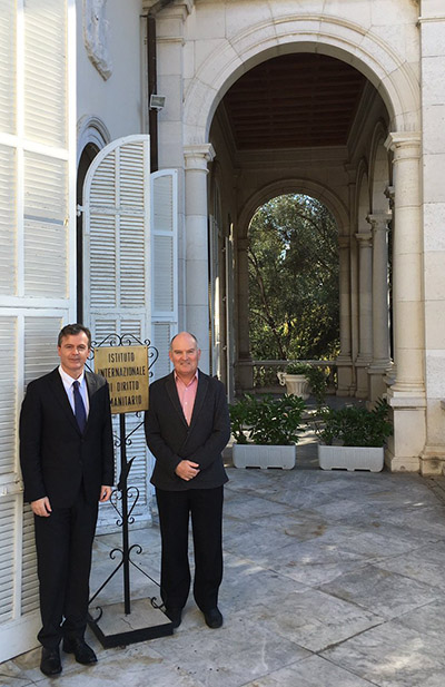 David Letts in San Remo with Australian Ambassador to Italy Dr Greg French