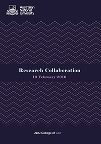 ANU College of Law Research Collaboration cover