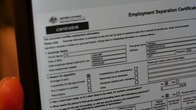 Employment separation certificate