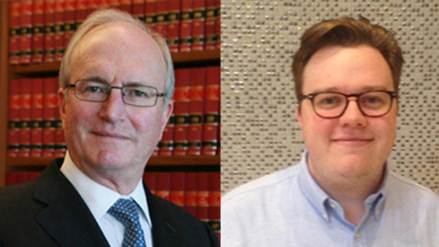 Photo of Justice Alan Robertson and Will Randles