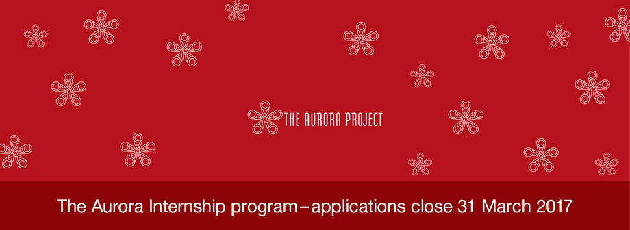 Applications for the winter round of the Aurora Internship are open