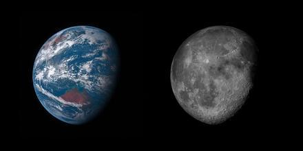 Earth & Moon by Sean Doran_Flickr