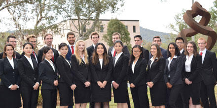 Image shows the 2018 Team Australia international law students