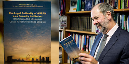 "Professor Donald Rothwell FAAL and his new book, ""The Legal Authority of ASEAN as a Security Institution""."