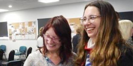 Associate Professor Liz Curran and Pamela Taylor-Barnett