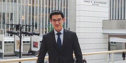 Edmund Bao pictured at the World Bank in Washington DC