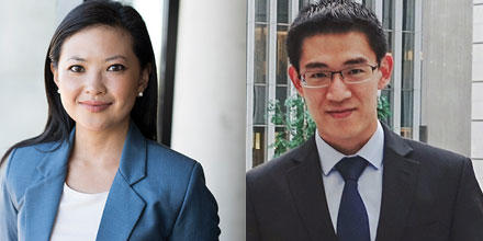 Image shows Helen Zhang on left and Edmund Bao on right