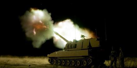 A tank in Mosul