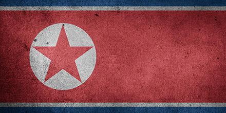 North Korean Flag painted on concrete