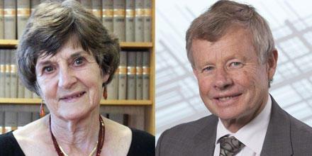 Emeritus Professor Robin Creyke AO (left) and Emeritus Professor John McMillan AO