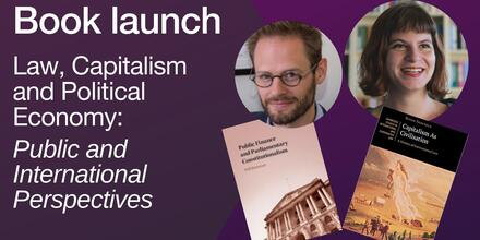 Book launch event promo- law, capitalism and political economy