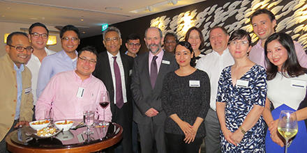 Group shot of attendees of ANU Law Alumni Meet-Up - Singapore