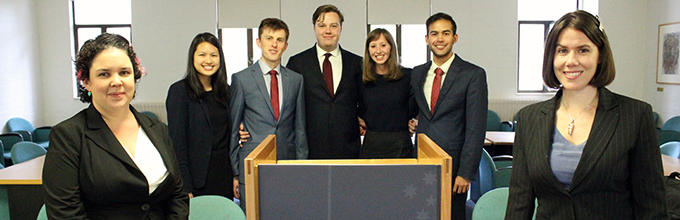 2016 ANU Jessup Moot winning team