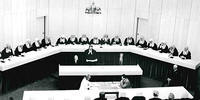 Black and White Photo of a Federal Court Sitting