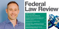 Composite image of George Duke and cover of Federal Law Review