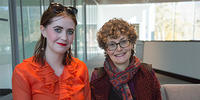 ANU Bachelor of Arts/Laws (Hons) student Elizabeth Harris and Professor Kim Rubenstein FAAL, FASSA.
