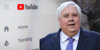 Clive Palmer has launched legal action against YouTuber Jordan Shanks