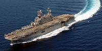 The Tarawa-class amphibious assault ship USS Peleliu (LHA 5)