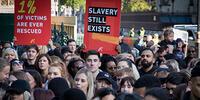 Modern slavery protest