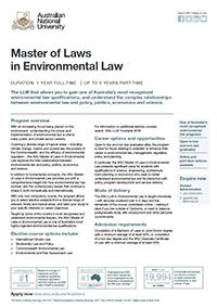 Master of Laws in Environmental Law
