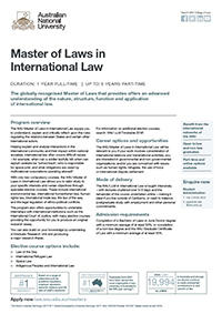 Master of Laws in International Law