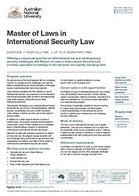Master of Laws in International Security Law