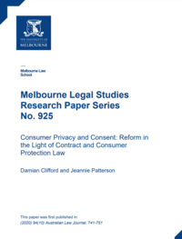Consumer Privacy and Consent: Reform in the Light of Contract and Consumer Protection Law