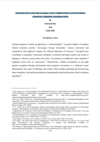 Peer Review and the Global Anti-Corruption Conventions: Context, Theory and Practice