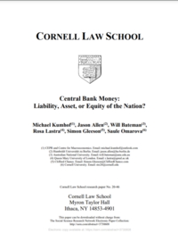 Central Bank Money: Liability, Asset, or Equity of the Nation?
