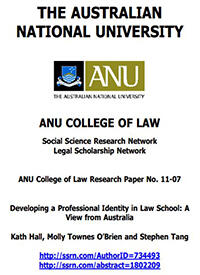 Developing a Professional Identity in Law School