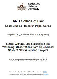 Ethical Climate, Job Satisfaction and Wellbeing