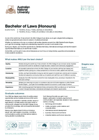 ANU Bachelor of Laws (Honours)