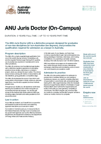 ANU Juris Doctor (On-Campus)