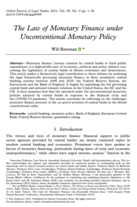 The Law of Monetary Finance under Unconventional Monetary Policy cover