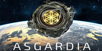 Image shows a satellite orbiting earth and the word 'Asgardia'