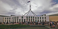 Australia Day protests at Parliament House