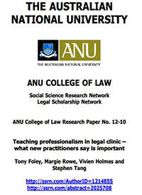 Teaching Professionalism in Legal Clinic