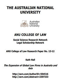The Expansion of Global Law Firms in Australia and Asia