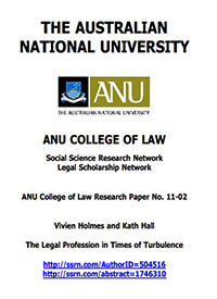 The Legal Profession in Times of Turbulence