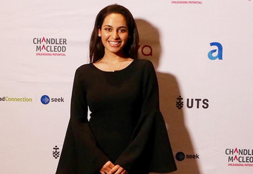 Angelique Nelis at the Top100 Future Leaders awards ceremony