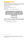 Draft Working Paper for a Research and Evaluation Report for the Bendigo Health–Justice Partnership: A Partnership between ARC Justice Ltd and Bendigo Community Health Services