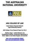 Judicial Rhetoric and Constitutional Identity