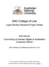 Committing to human rights in Australia's corporate sector